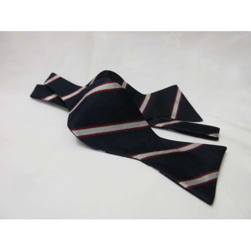 Old Rossallian Silk Thistle Bow Tie (Tie yourself)